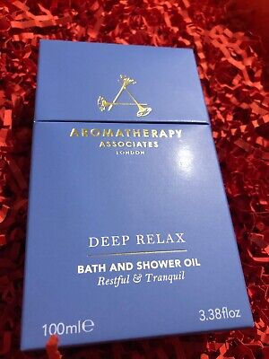 Aromatherapy Associates Deep Relax Bath and Shower Oil 100ml HUGE SIZE BNEW boxe
