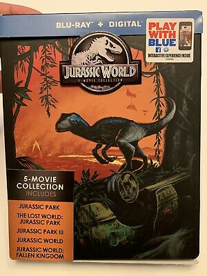 Jurassic World - Park 1-5 Movie Collection (Steel Book Blu-Ray) No Digital