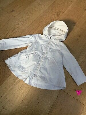 Moncler Girls Rain Jacket - Cream - 100% Authentic - Age 4