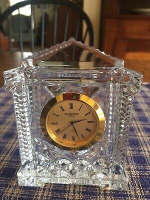 Waterford Gold Lead Crystal Clock