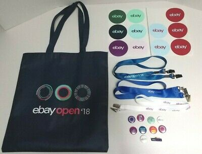 Ebay Open Swag Bag Fabric Double Sided, Lanyards, Pins & Decals
