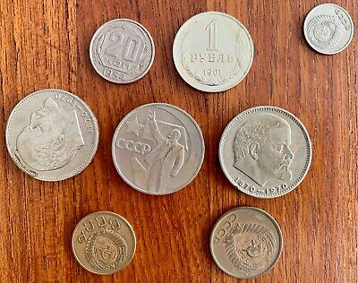 Lot of Misc Russian Soviet Coins stored in drawer almost 50 years pre 1972