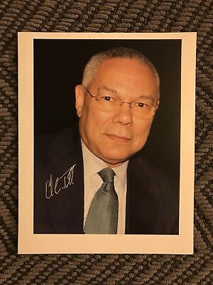 General Colin Powell Signed 8 X 10 Picture Autographed