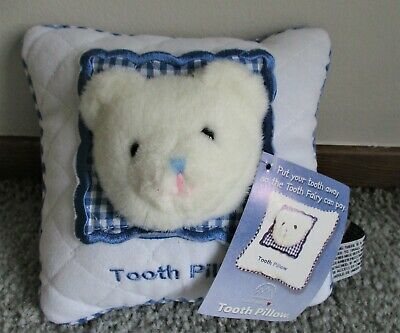 Tooth Fairy Bear Pillow New With Tag