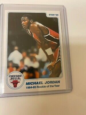 Michael Jordan 1985 STAR 84-85 ROY White #1 RC! HOF!The Last Dance! Perfect! $!