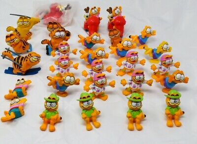 Garfield Vintage PVC Character Toy Figures Lot of 29