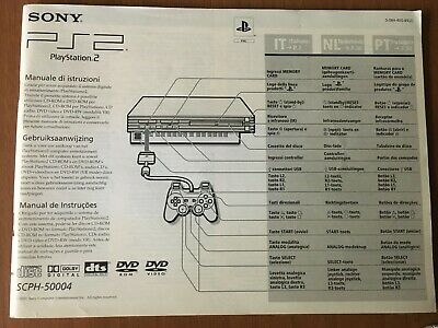 Manuale PS2 SCPH-50004 playstation 2