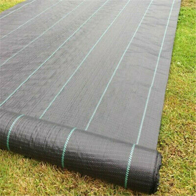 1,2,3,4M Wide Weed Control Fabric Landscape Ground Garden Yard Cover Membrane