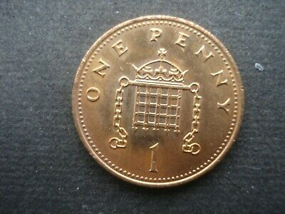 Great Britain 1987 Decimal One Penny Coin Very Fine Condition