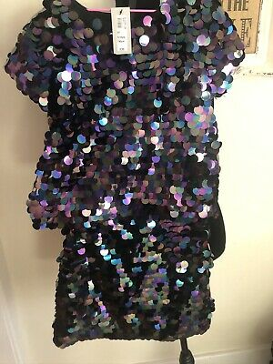 Bnwt River Island Top And Skirt Set 9-10yrs Sequin