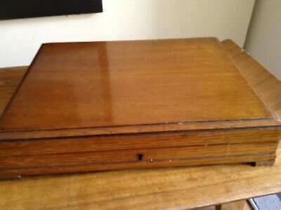 Victorian Cutlery Box With Key