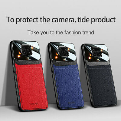 For Xiaomi Redmi Note 9S 9 Pro Ultra Slim Shockproof Leather Hybrid Case Cover