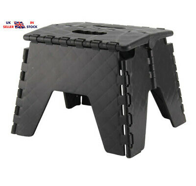 Plastic Folding Step Up Stool Collapsible Foldaway Handy Heavy Duty Steps NEW