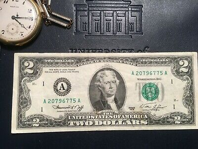 Vintage *Rare* 1976 Two Dollar Bill $2 Bill In Protective Holder  And Bonus Card