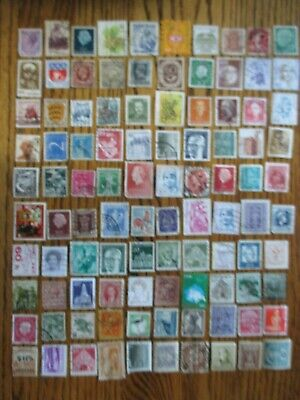 Henry's Stamps- 053003 - 100 Different Worldwide-Small Format-Used/Off Paper-