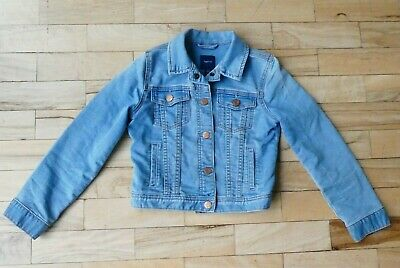 Girl's GAP Kids Blue Denim Jacket Size M Age 8-9 Years
