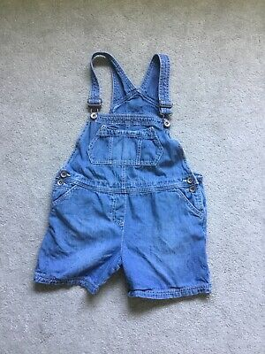 Girls Denim Short Dungarees Age 9-10 From Next 100% Cotton 140cm