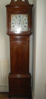 Antique Mahogany Grandfather Clock by S Kellett of Bredbury