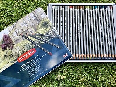 Graphitint Derwent Pencils Artist 24 Water soluble Professional Art Tin