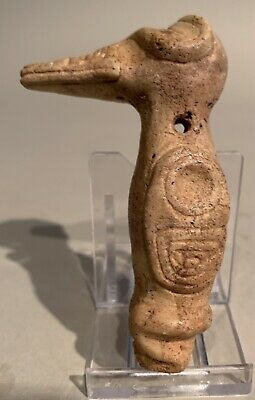 Taino. Stone Big Beak Bird Pendant. PreColumbian