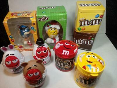 LOT Assorted M&M MM 1 Racing Ornament & 1 Santa Ornament, 2 Tins & MORE W53