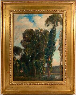 Listed Artist Eliot Candee Clark (1883-1980) Signed Oil Painting On Canvas