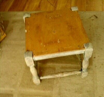 Vintage / Antique Wooden Stool / Footstool  - Needs Restoration / Upcyle