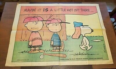 1968 Chicago Tribune Peanuts Hang Up # 6 Poster Charlie Brown Linus Snoopy
