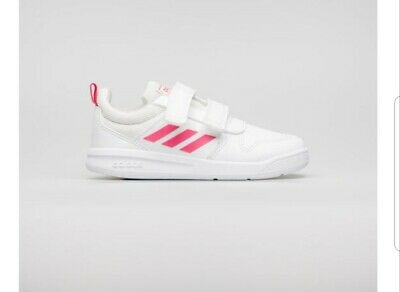 Adidas Girls infant Tensaurus Strap trainers Sports pink and white Size 5