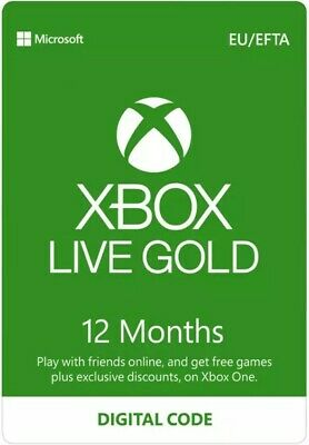XBOX LIVE GOLD 12 month [Digital Code] **SAME DAY DELIVERY**