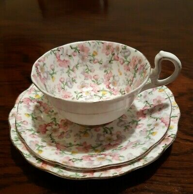 Royal Standard Bone China Vintage Afternoon Tea Trio cup saucer and plate