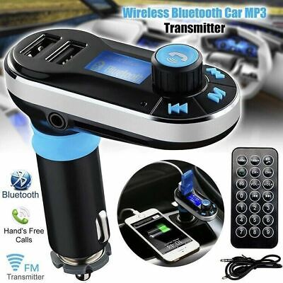 New Wireless Bluetooth MP3 Player FM Transmitter Radio LCD USB Car Charger set