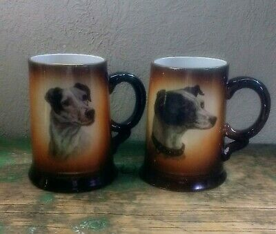 Two Early Dog Beer Tankards! USONA Goodwin!