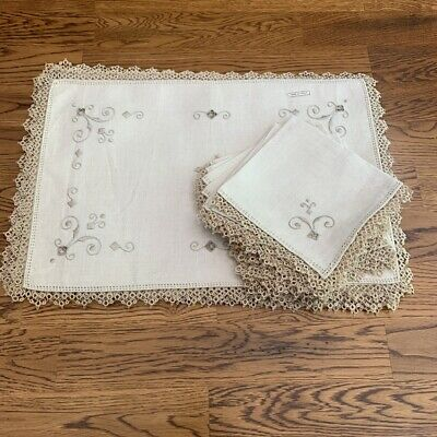 Vintage Linen Italian placemats (8) with napkins (8)
