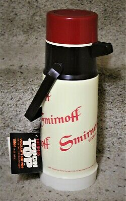 SMIRNOFF Pressure Pump Spout Thermos #2645 by King Seeley NOS