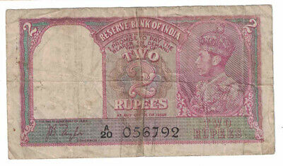 British India - ND(1937) 2 Rupees Banknote (P-17a)