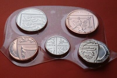 2009 Full Set of BU Small Denomination Coins 1p 2p 5p 10p & 20p Unc from set