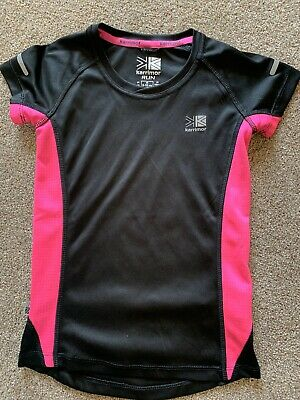 Karrimor Running Top Black And Pink Size 9-10 Years
