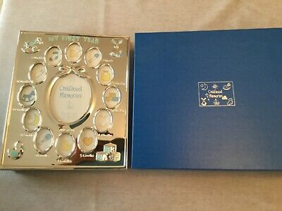 Silver Plated My First Year Photo Album - ideal new baby gift