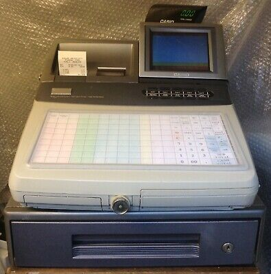 CASIO TE-8500F Electronic Cash Register Complete With New Wet Cover And Free P&P