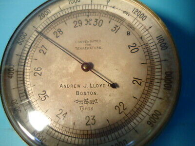 Antique Tycos (London) pocket barometer / altimeter sold by Andrew Lloyd Boston
