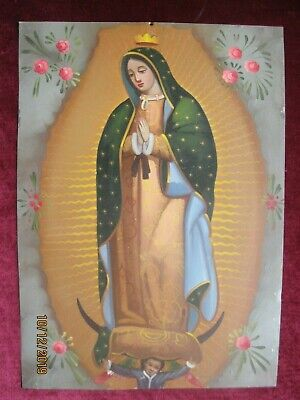 Contemporary  Retablo On Tin Our Lady Of Guadalupe In Excellent Condition