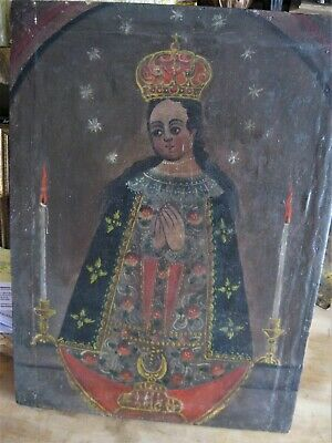 Oil Painting On Canvas Of Our Lady Of San Juan Beautiful Piece