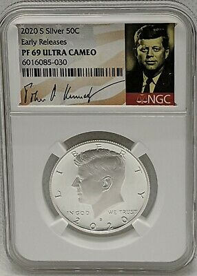2020 S Proof Silver Kennedy Half Dollar 50C NGC Early Releases PF 69 UC