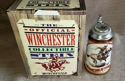 1993 The Official Winchester Collectible Stein Budweiser Limited Edition w/ COA