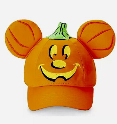 Disney Parks Mickey Pumpkin Light-Up Halloween Baseball Hat for Adults NWT