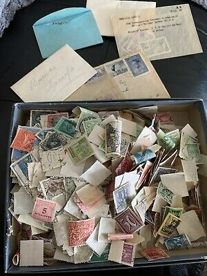 Box Stuffed Full of Stamps - Worldwide - Unsorted - Off Paper