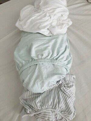 3 X Fitted Sheets For Cot Bed Bundle