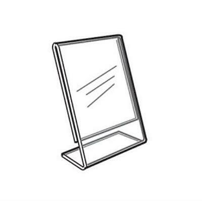 Acrylic Slanted Counter Sign Photo Display Holder Stand 3.5 x 5.5