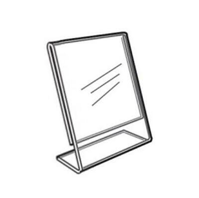 Acrylic Slanted Counter Sign Photo Display Holder Stand 5.5 x 7